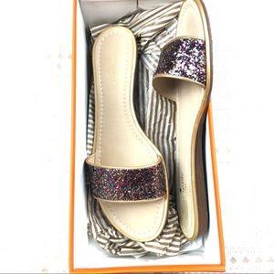 KATE SPADE Tulip slide sandals 9.5 M multi glitter